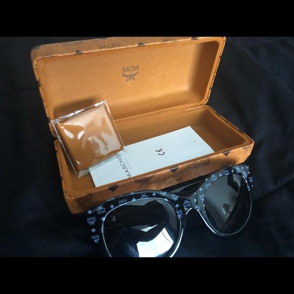 8c61fd314ad Authentic MCM Cat Eye Visetos Logo Sunglasses